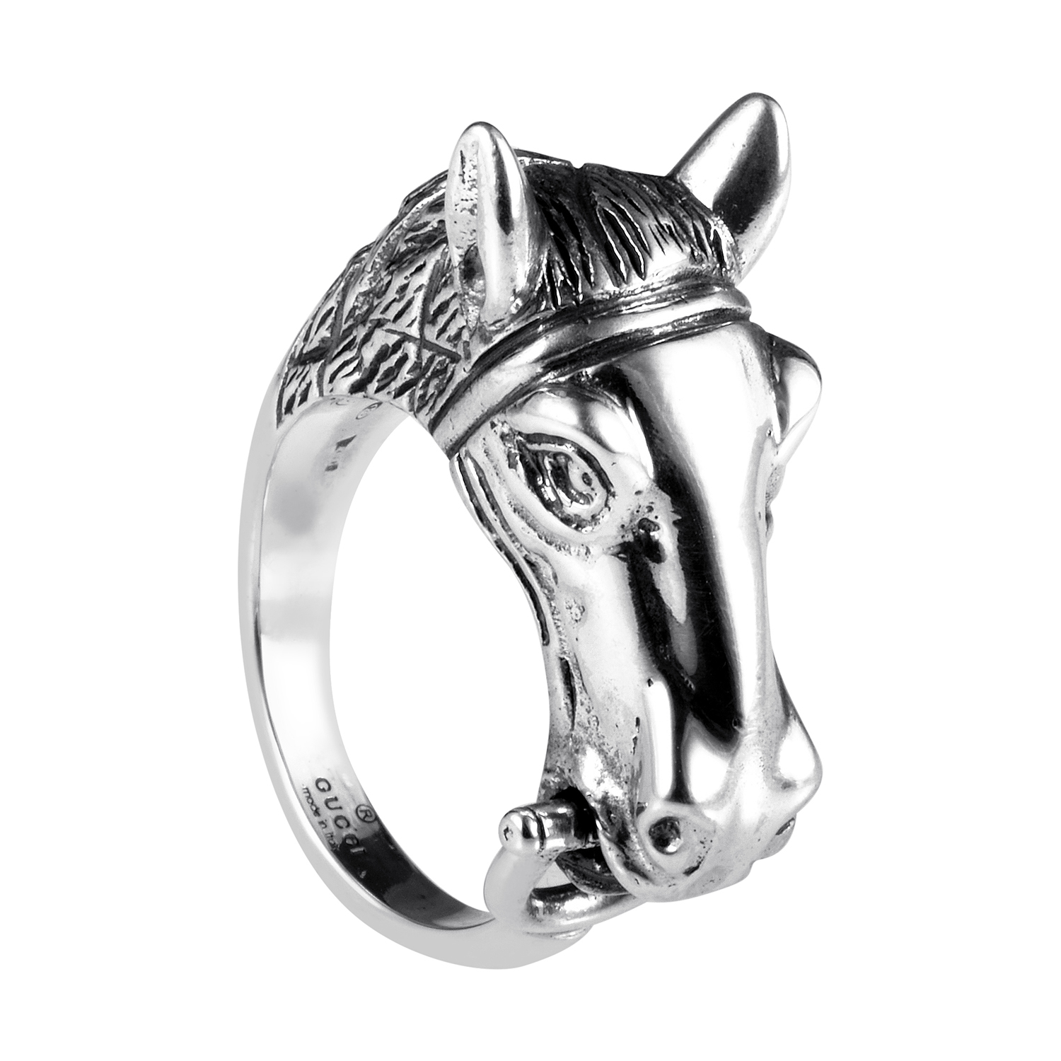 Sterling Silver Horse Head Ring