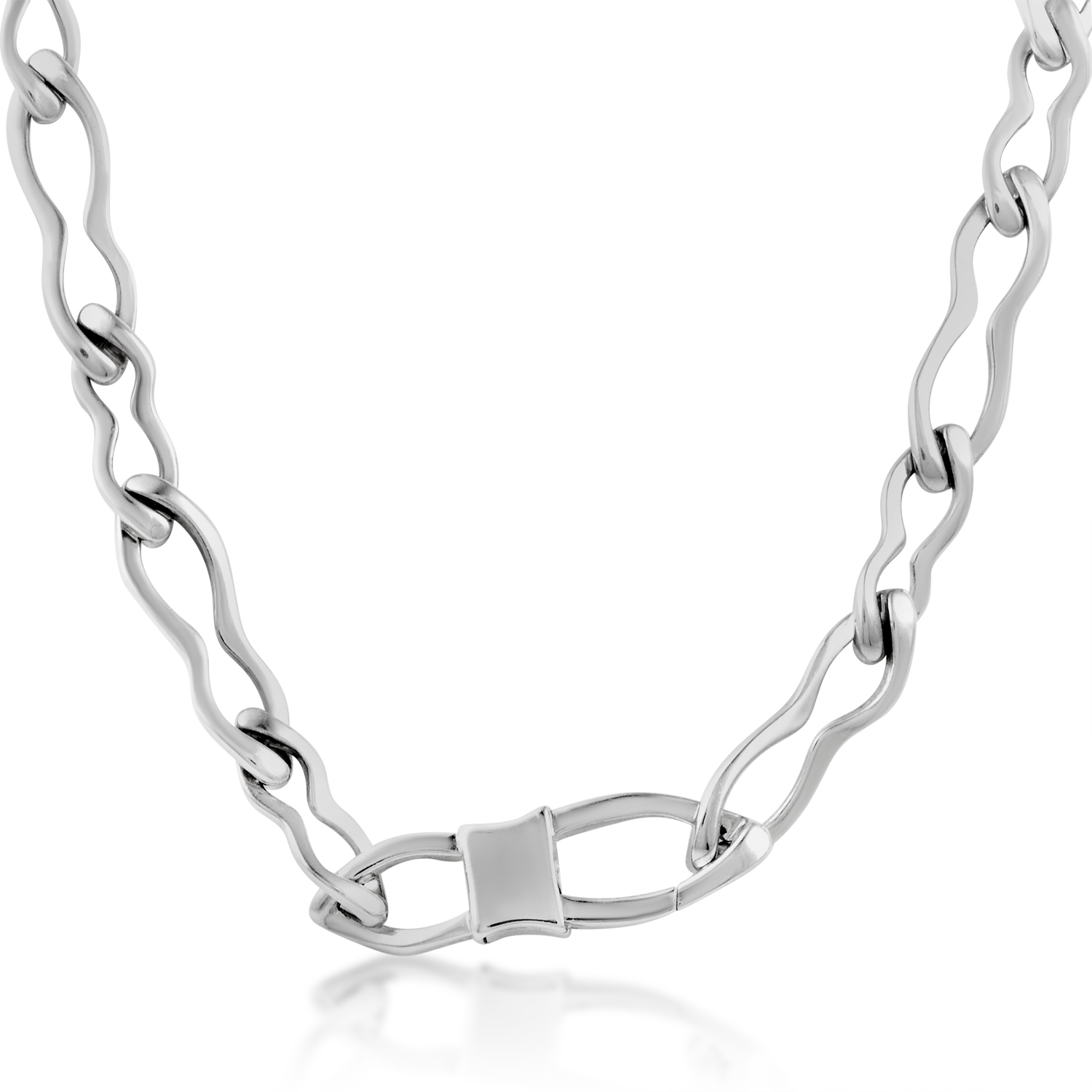 Men's Sterling Silver Chain Link Necklace 6108010984