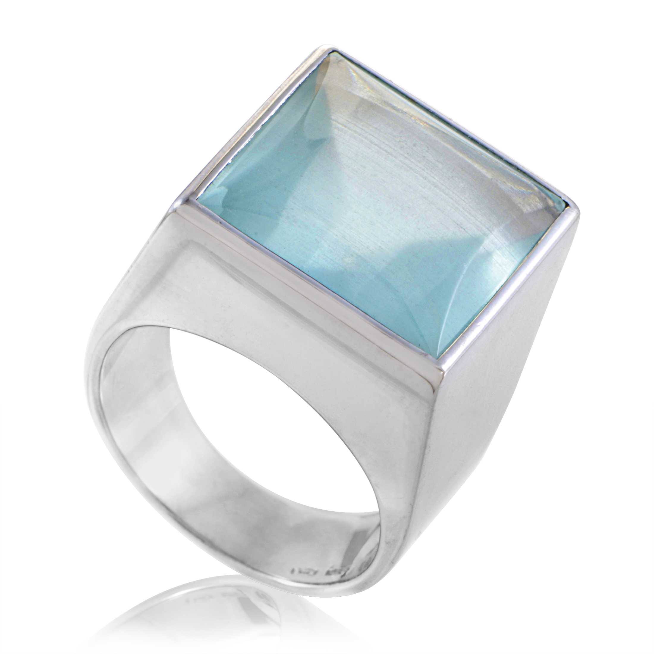 Gucci Women's 18K White Gold Aquamarine Ring