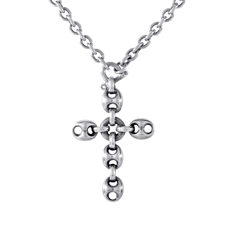Marina Chain Sterling Silver Crucifix Pendant Necklace 181338J84008141