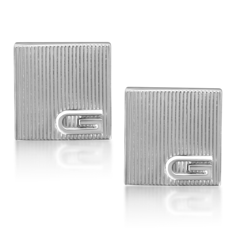 Ridged Sterling Silver Cufflinks
