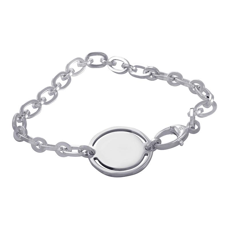 Sterling Silver Link Signature Bracelet 181367J84008106