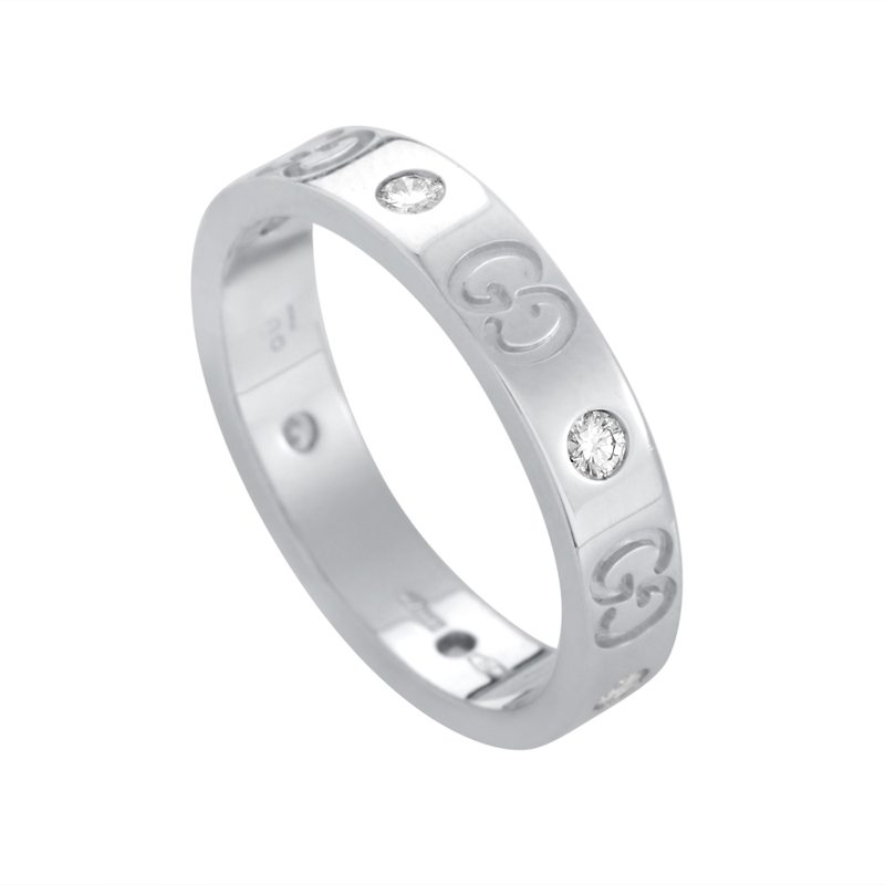 Icon Women's 18K White Gold Diamond Band Ring GUC23-010215