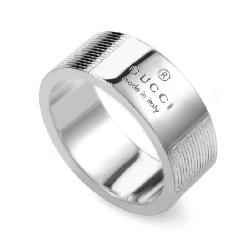 Sterling Silver Signature Band Ring GUC23-010615
