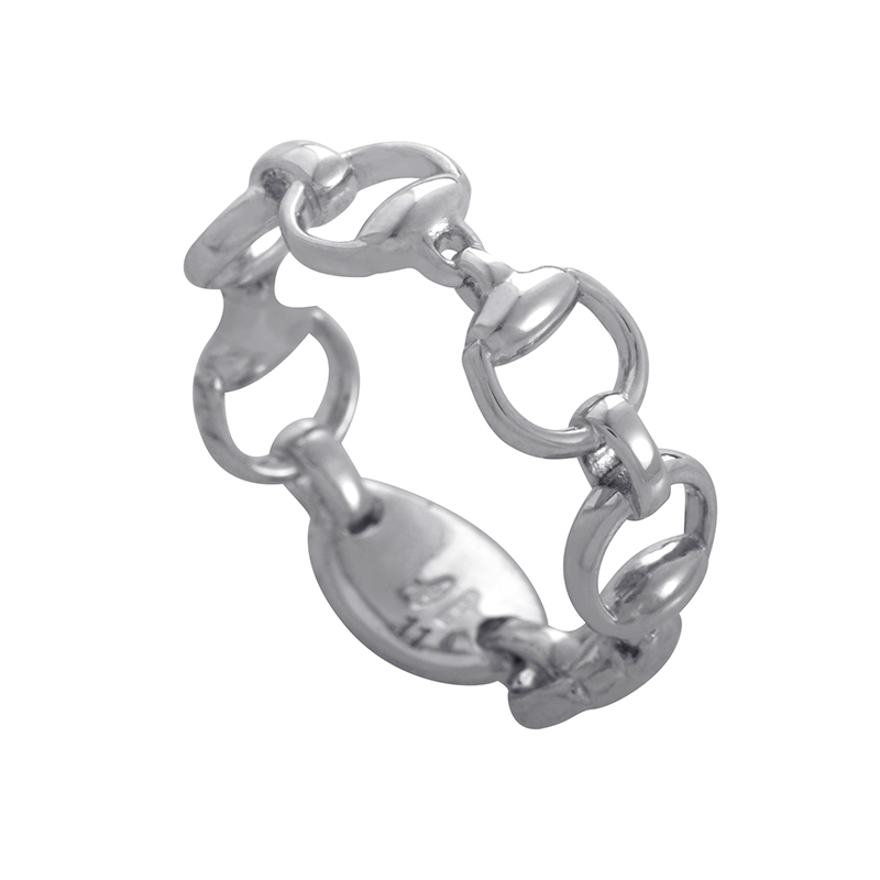 Gucci 18k White Gold Bracelet Gucci Horsebit 18k White Gold