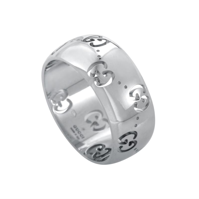 Icon 18K White Gold Band Ring YBC246469003014