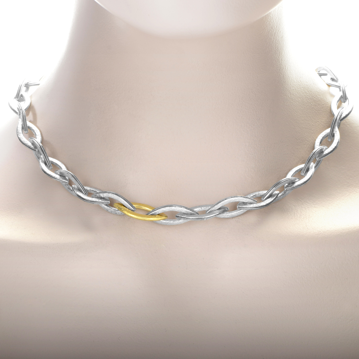 Willow Women's 24K Yellow Gold Silver Link Collar Necklace