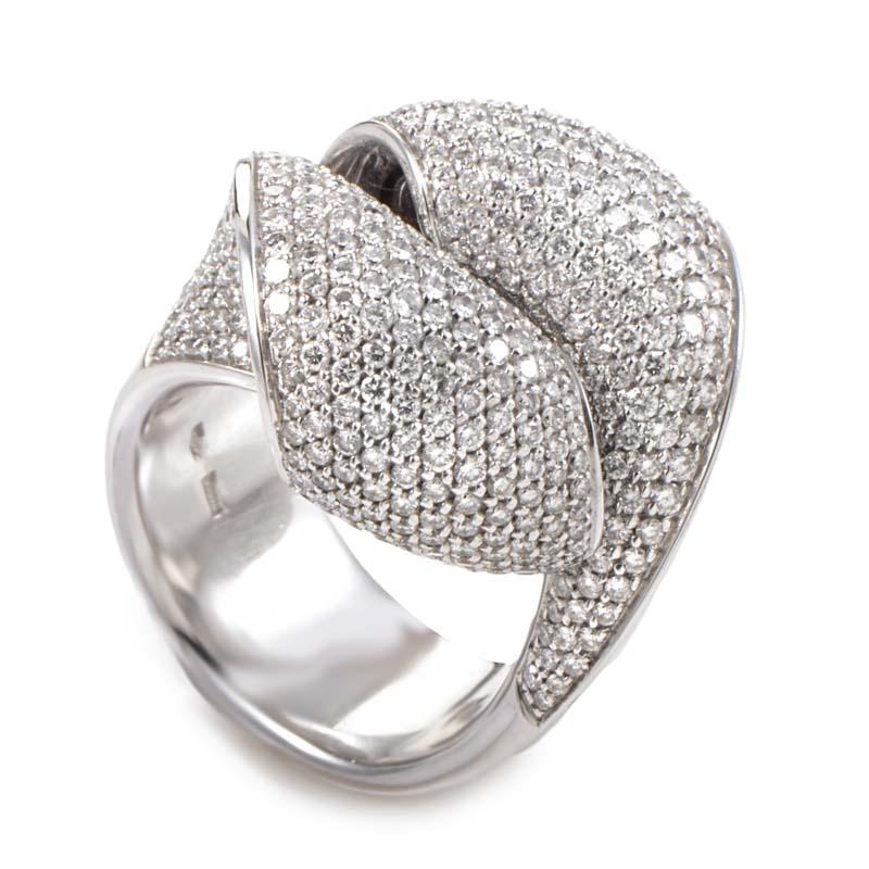 18K White Gold Diamond Pave Ring GVIS39719WG