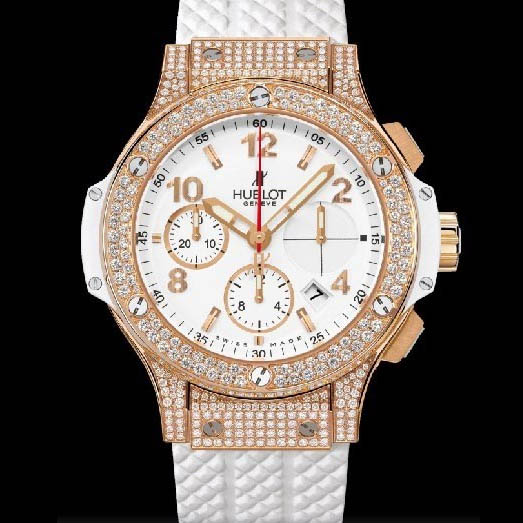 Big Bang 41mm Gold White Pave 341.PE.2010.RW.1704