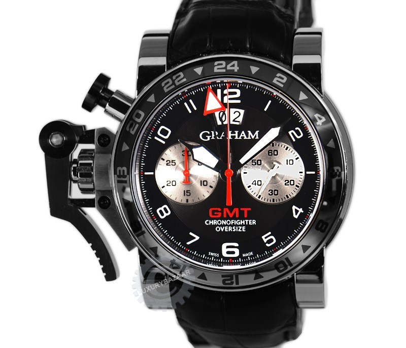 Chronofighter Oversize GMT Black Steel  2OVGS.B39A.C118S