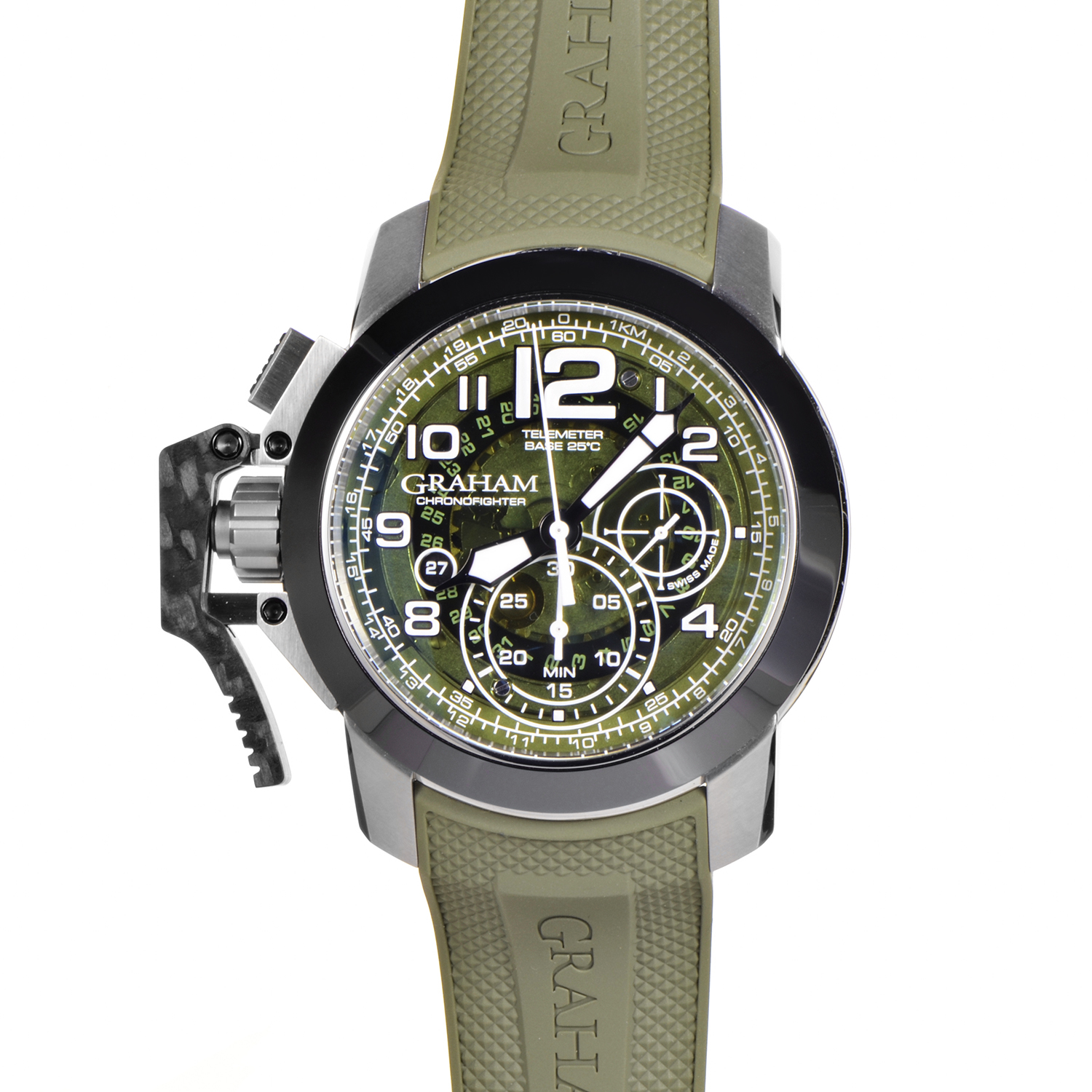 Chronofighter Oversize Target Green 2CCAC.G03A.K94S