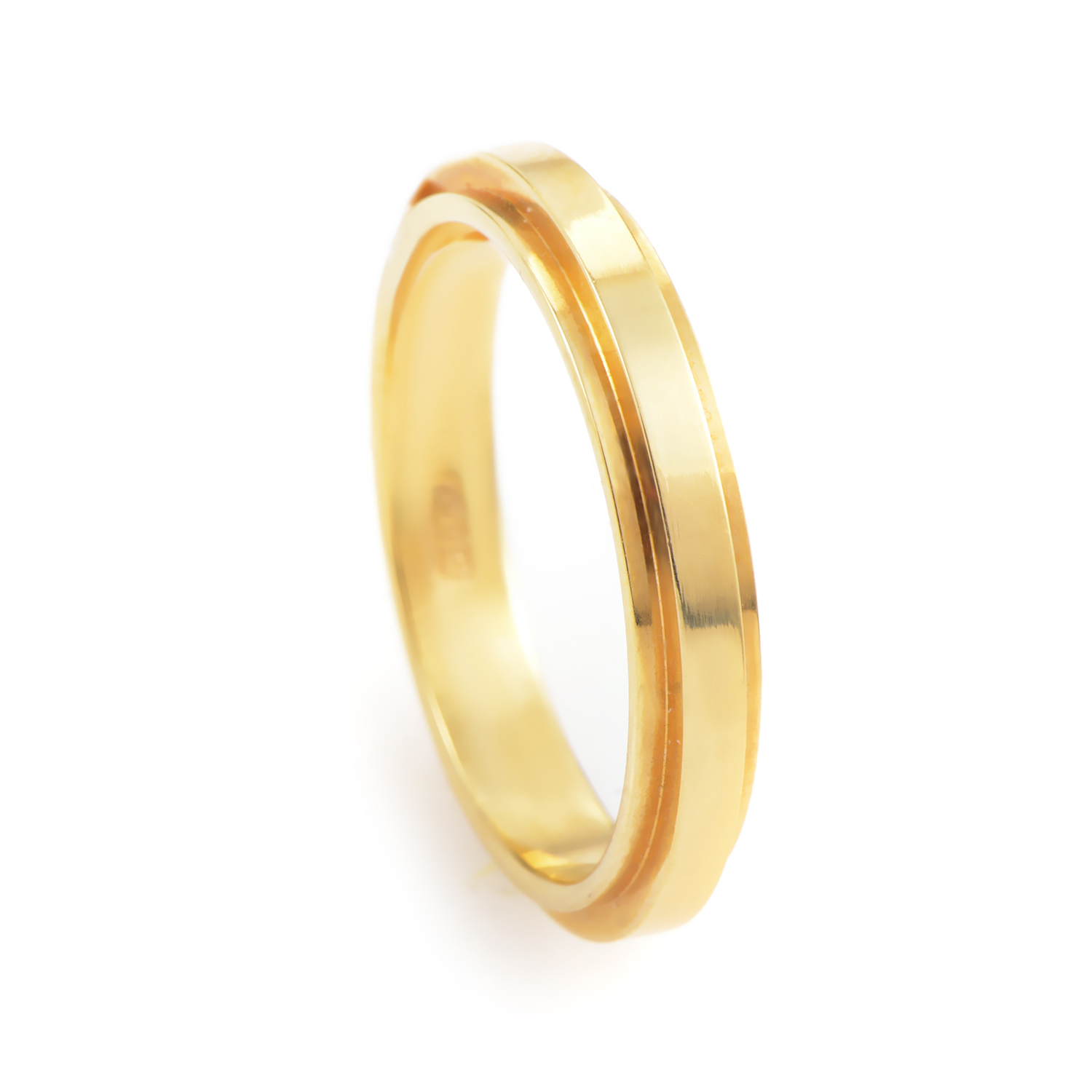 Unisex 18K Yellow Gold Thin Band Ring 02018249