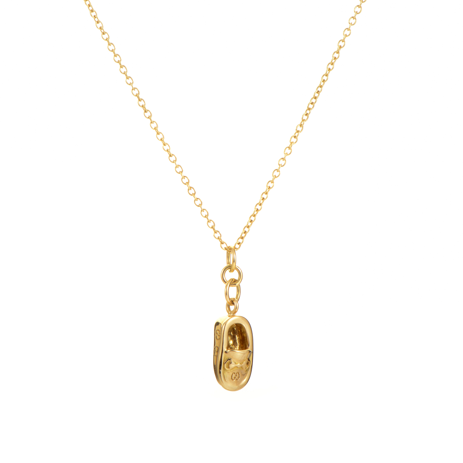 Women's 18K Yellow Gold Loafer Pendant Necklace