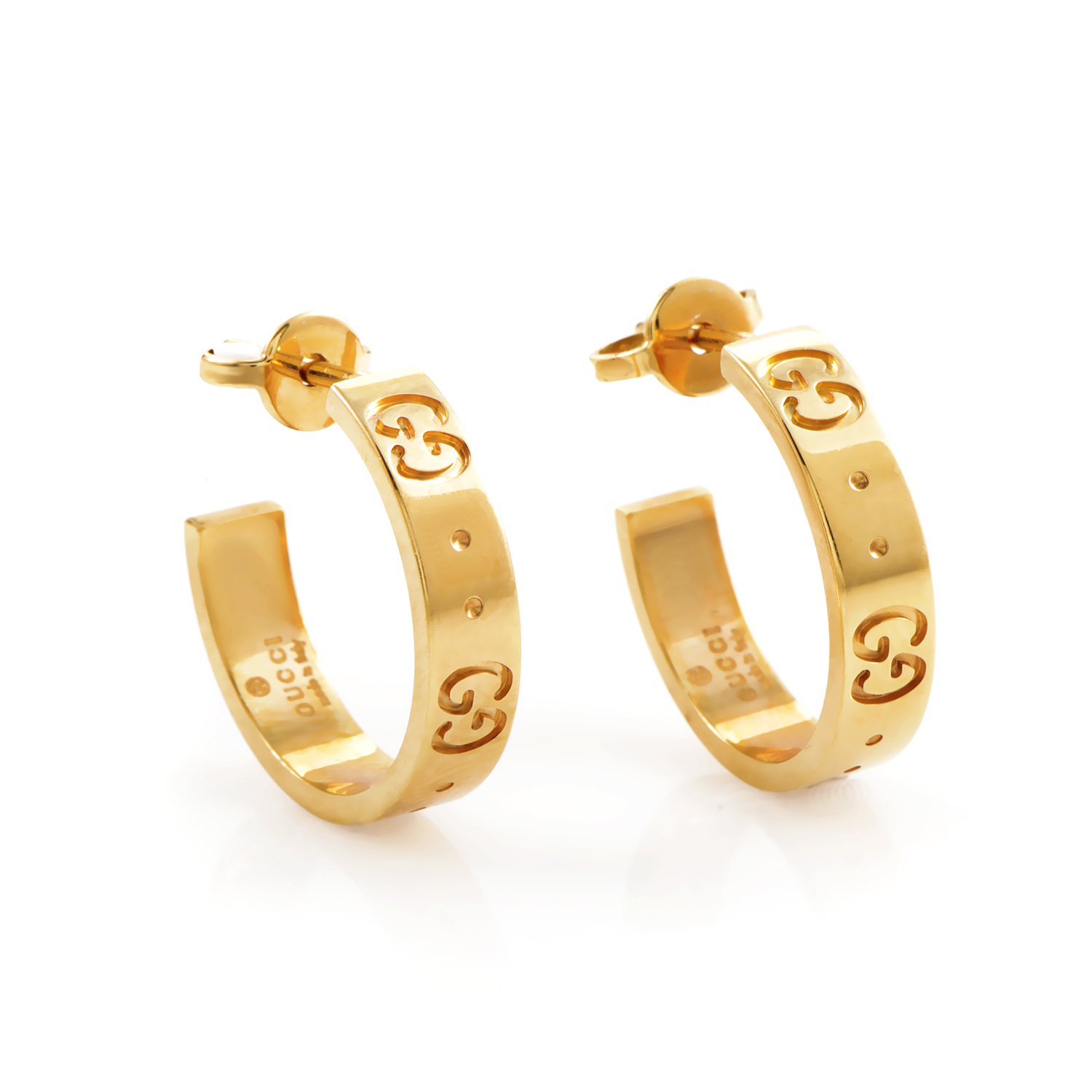 Icon 18K Yellow Gold Hoop Earrings