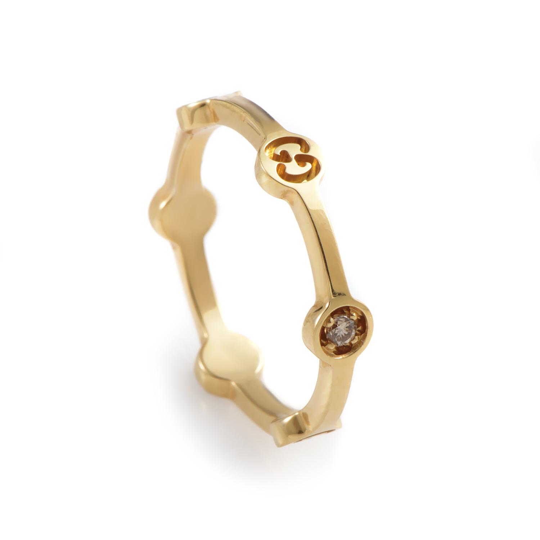 Icon 18K Yellow Gold Diamond Band Ring 08055835