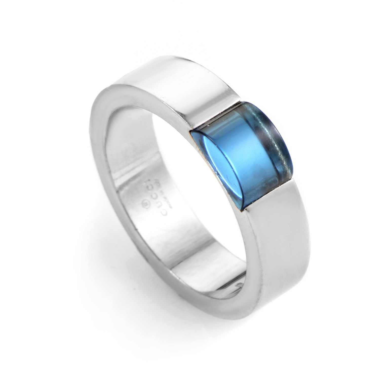 18K White Gold Topaz Ring 08065292