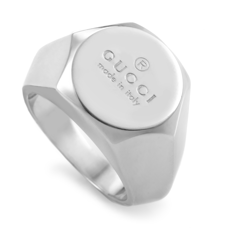 Sterling Silver Bullone Logo Ring 155815J84008106