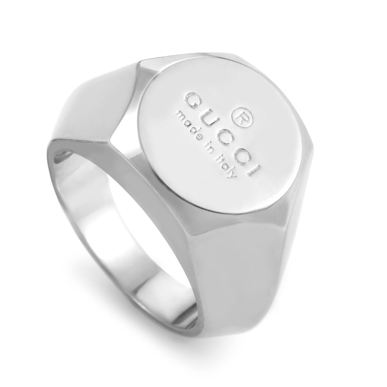 Sterling Silver Bullone Logo Ring 155816J84008106