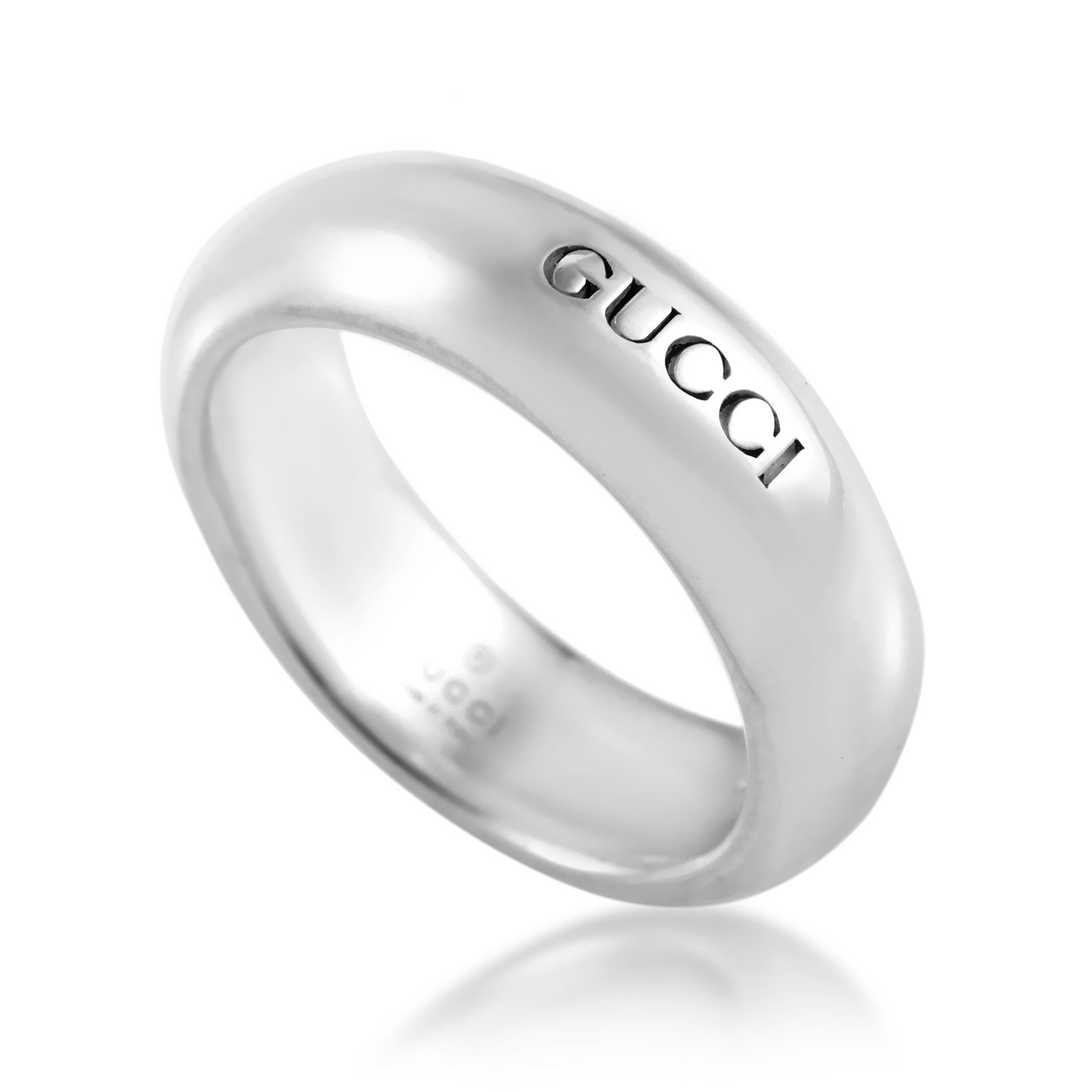Sterling Silver Gucci Signature Band Ring 163216J84008106