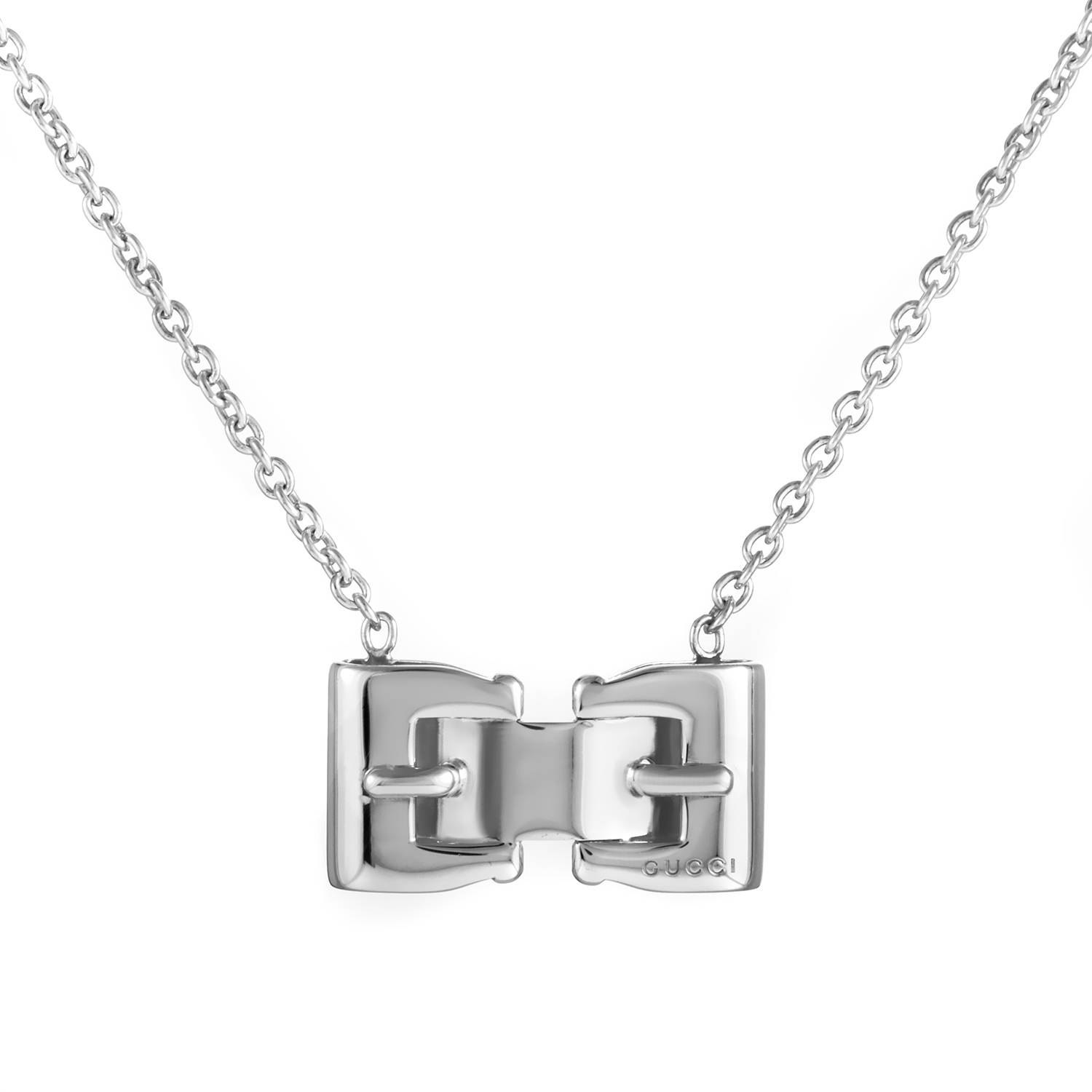 Fibbia Sterling Silver Pendant Necklace