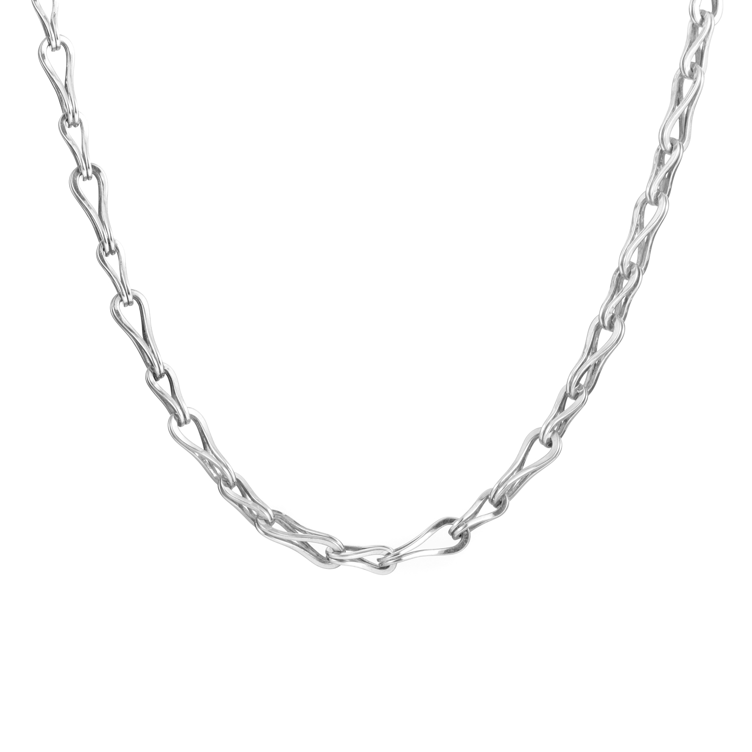 Sterling Silver Hook Chain Necklace 610803098400600