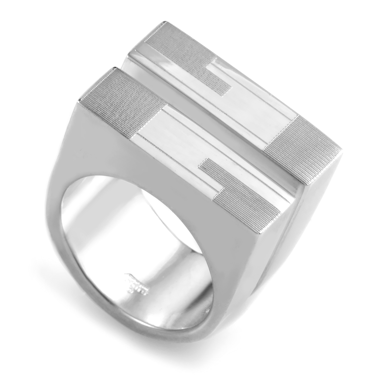 Sterling Silver Panel Ring