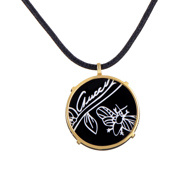 Flora Women's 18K Yellow Gold Pendant & Cord Necklace AGGUPN1013