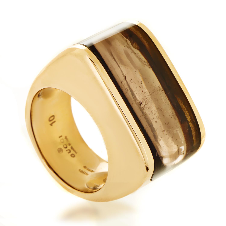 Gucci Women's 18K Rose Gold Smoky Topaz Ring