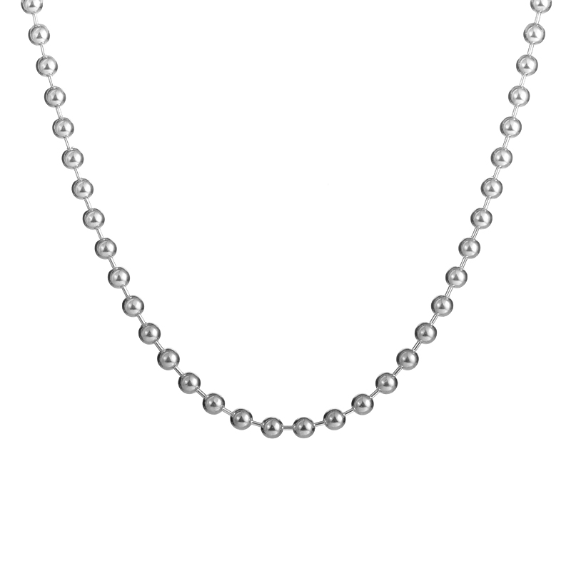 Gucci Women's Silver Beaded Choker Toggle Necklace