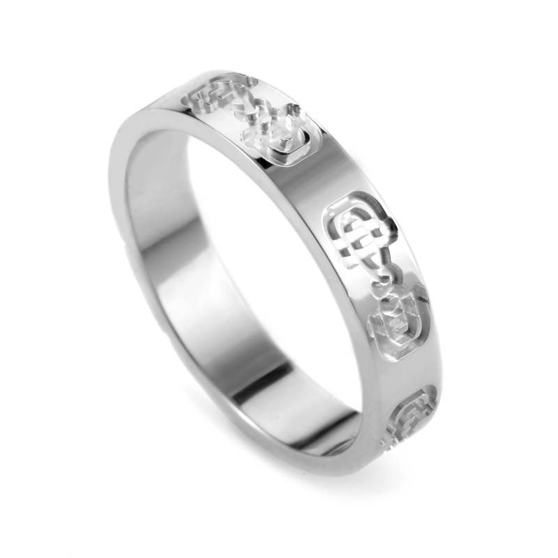 Icon 18K White Gold Band Ring GUC14-010615