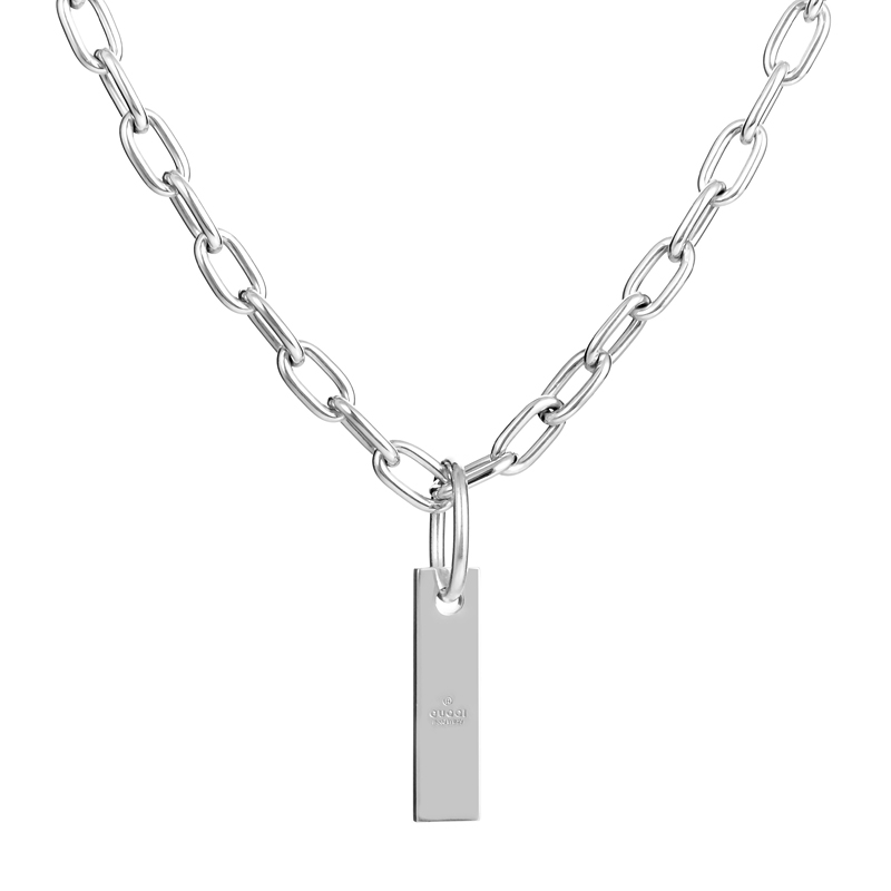 Sterling Silver Chain Pendant Necklace GUC30-010515