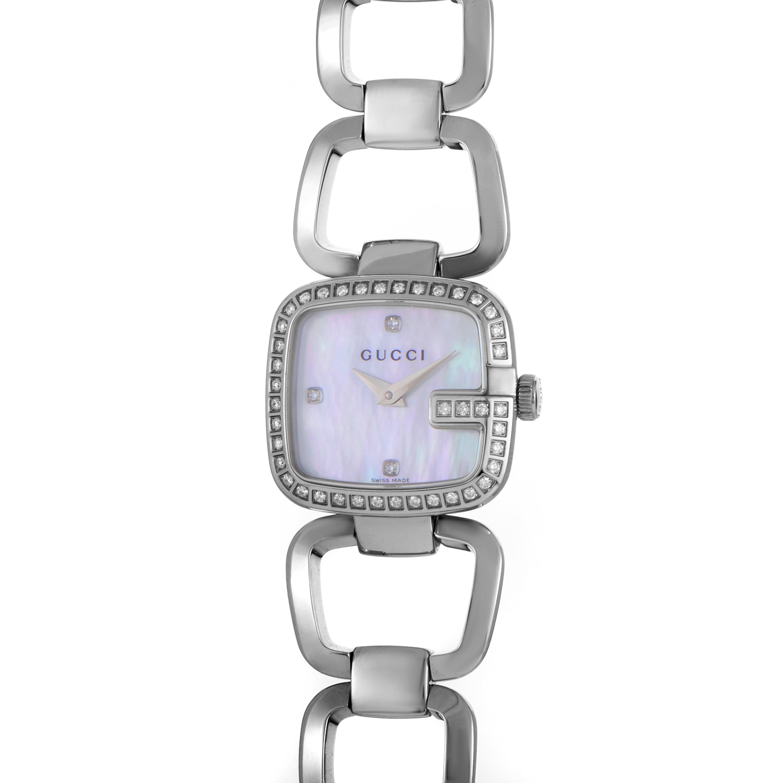 G-Gucci Women's Stainless Steel & Diamond Quartz Watch YA125506