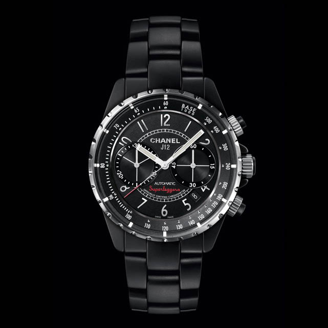 J12 Matte Black Superleggera Chronograph H3409