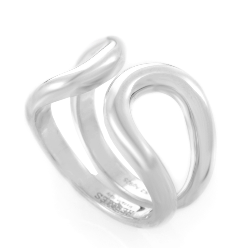 Lima Womens Sterling Silver Openwork Band Ring