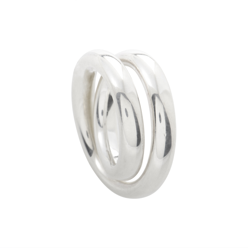 Vertigo Women's Sterling Silver Band Ring