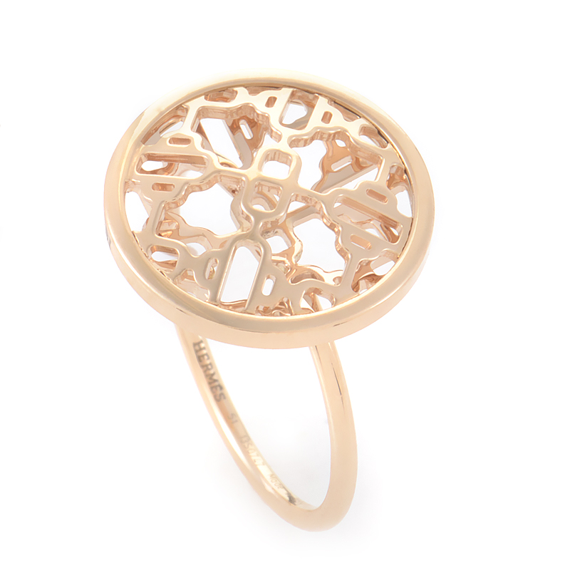 Women's 18K Rose Gold Openwork Ring SP132
