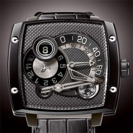 Hautlence HLs 08 Clous de Paris (Ti-DLC / Black Honey Comb / Strap)