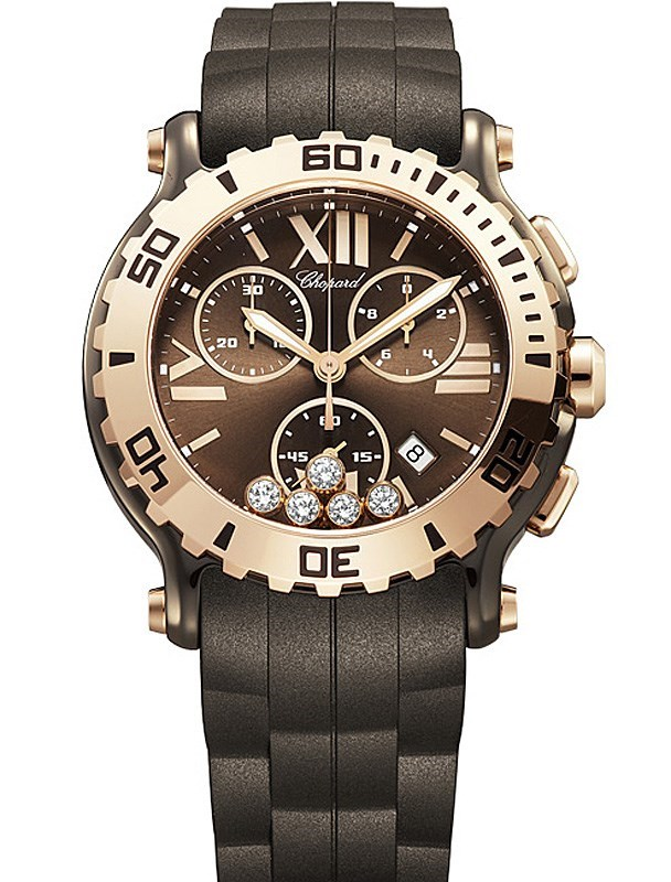Happy Sport Chrono (PG-Ceramic / 5 Diamonds)
