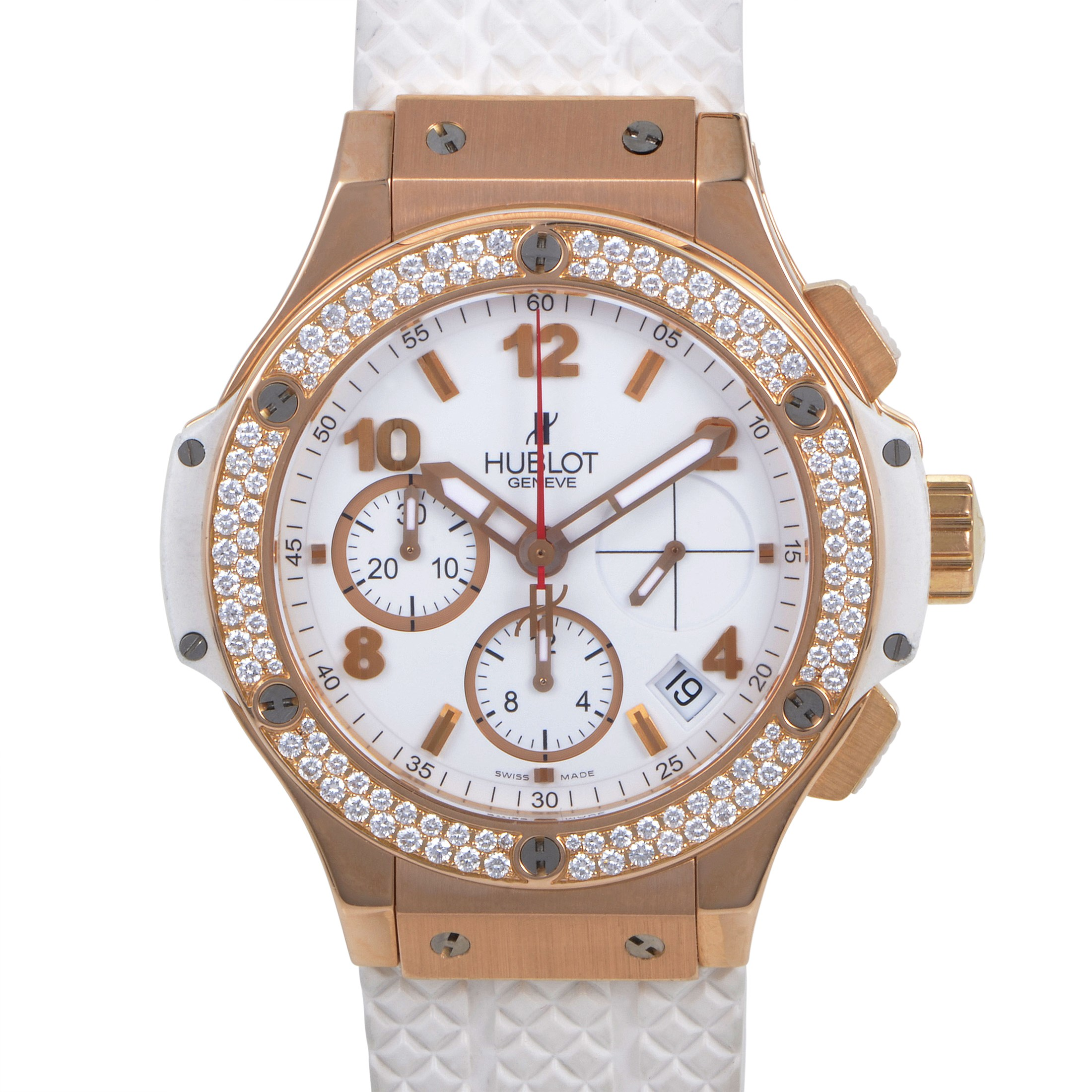 Big Bang Gold White 41mm Automatic Chronograph Watch 341.PE.2010.RW.1104