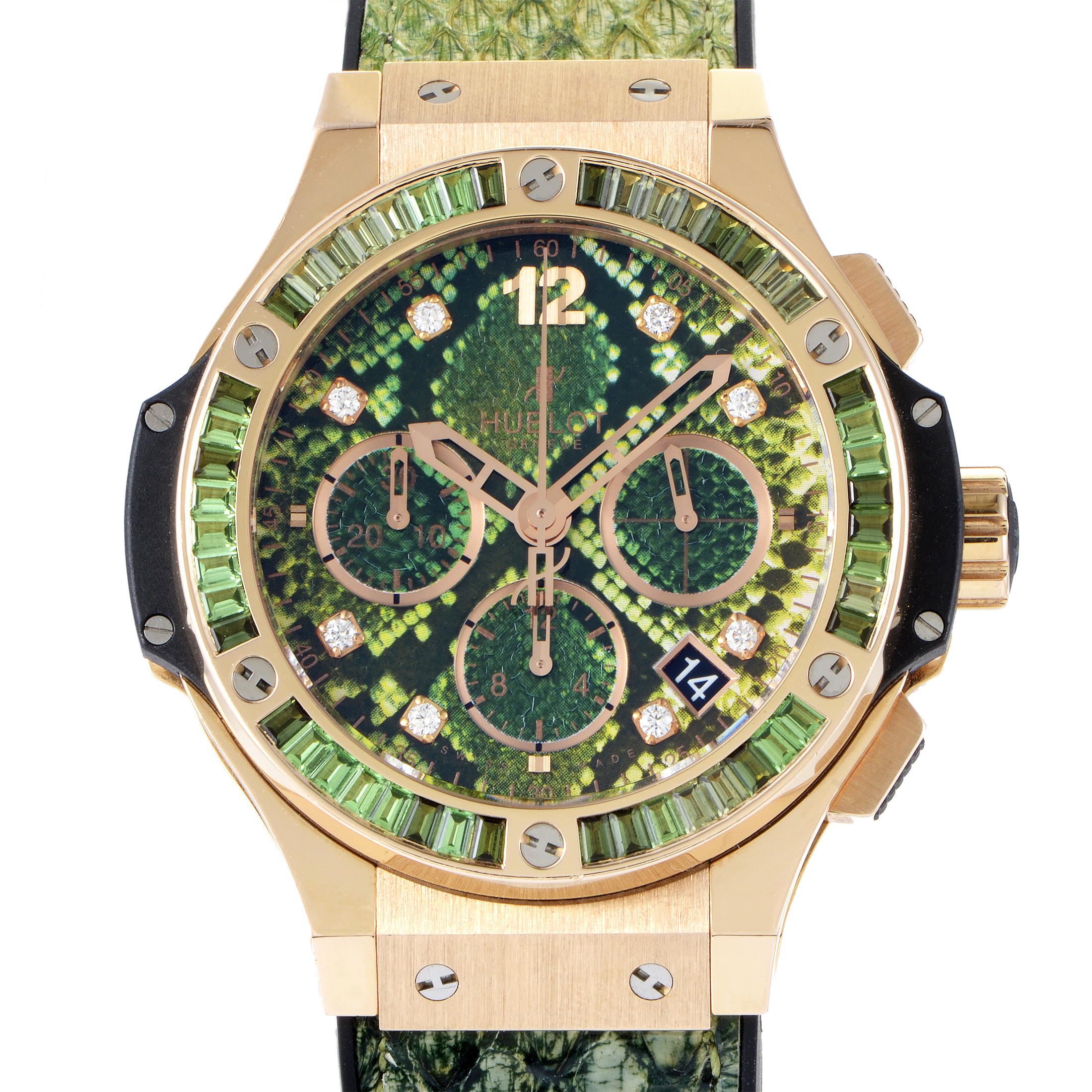 Boa Big Bang Green Automatic Chronograph Watch 341.PX.7818.PR.1978