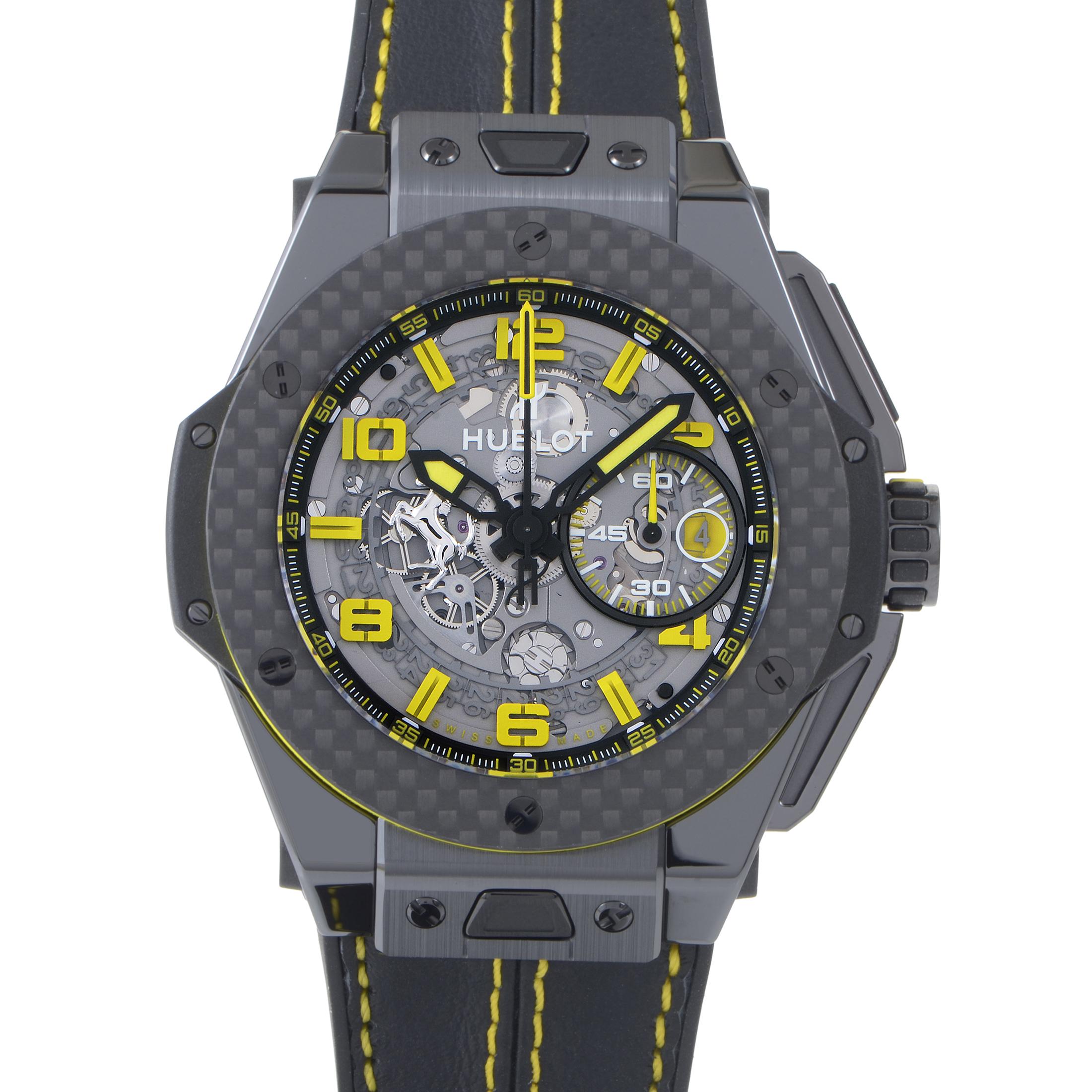 Big Bang Ferrari Ceramic Carbon Mens Chronograph Watch 401.CQ.0129.VR