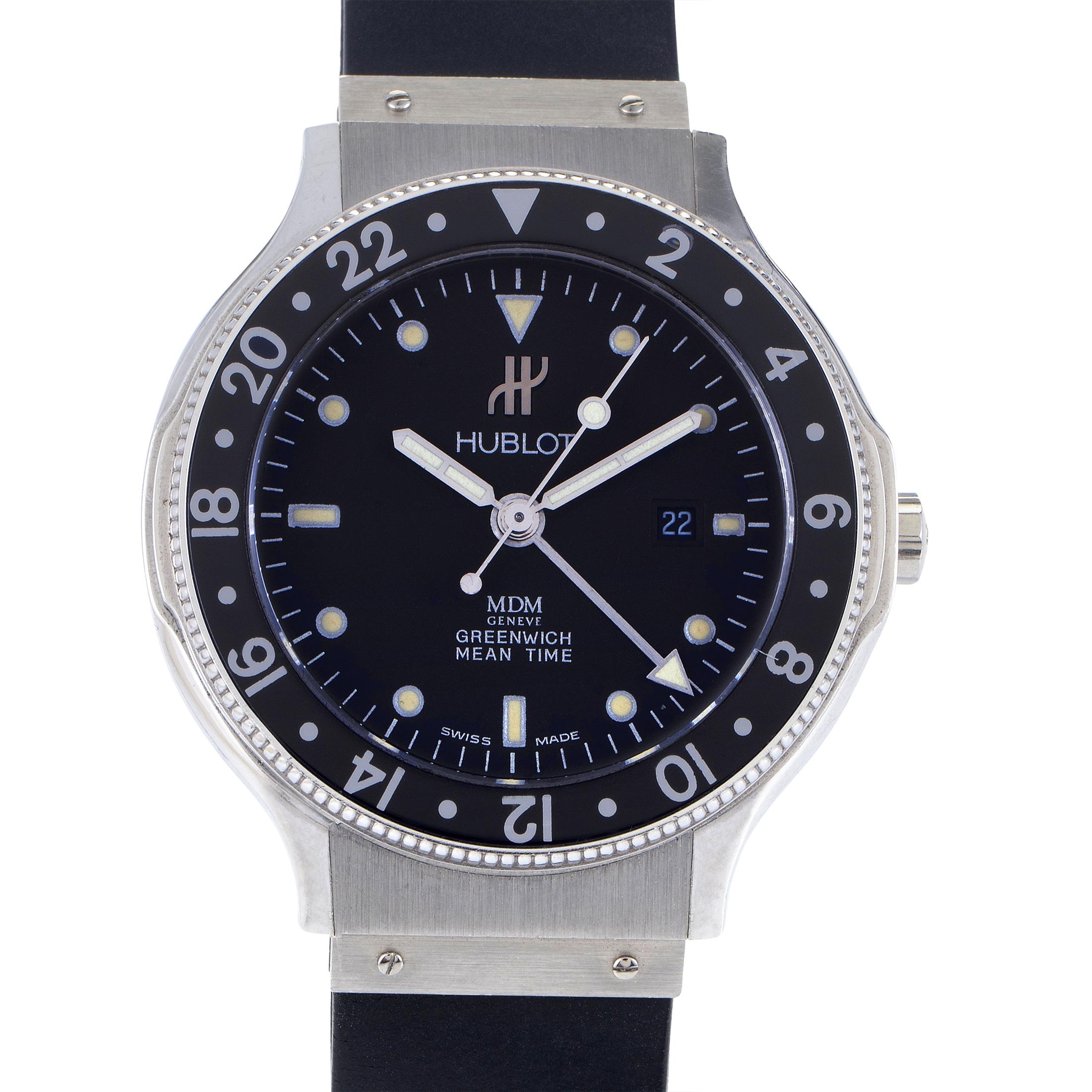 Hublot MDM Geneve Greenwich Mean Time Unisex Quartz Watch H147.140.1