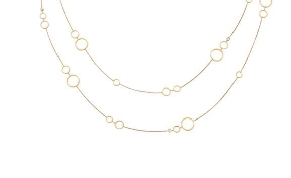 Happy Diamonds Circles 18K Rose Gold Necklace