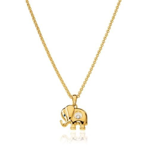 Happy Diamonds  Elephant 18K Yellow Gold Pendant Necklace