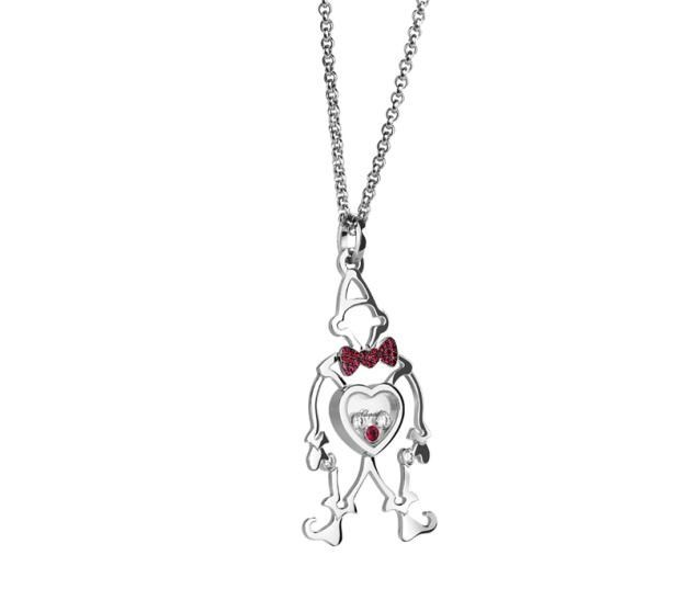Happy Diamonds  New Clown 18K White Gold Pendant Necklace