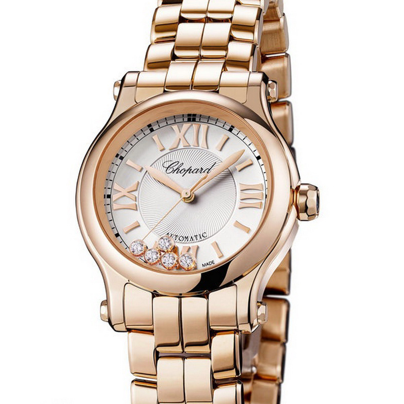 Happy Sport 30 mm Automatic 274893-5003 (Rose Gold)
