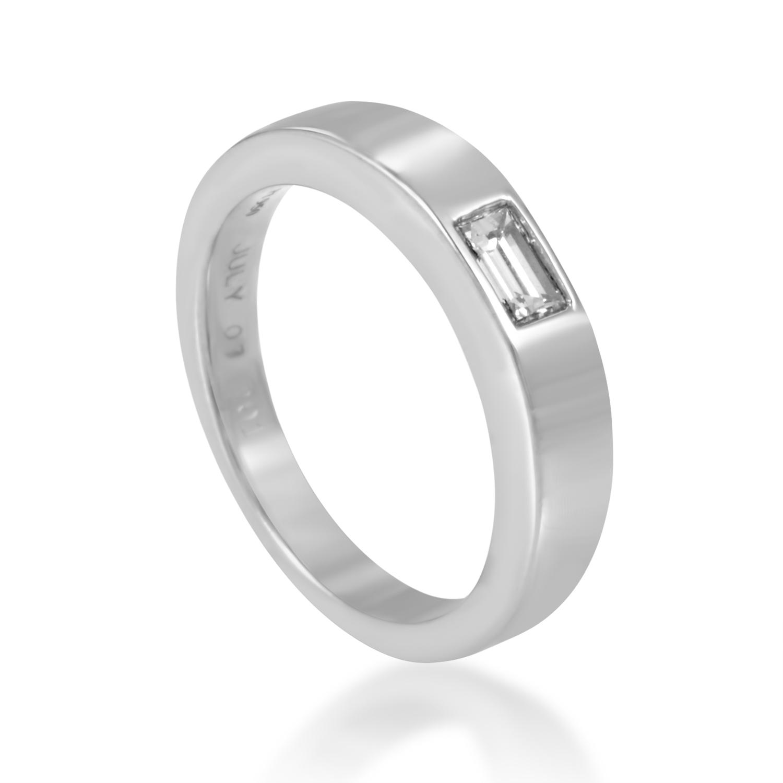 Harry Winston Women's Platinum .25ct Diamond Solitaire Band Ring