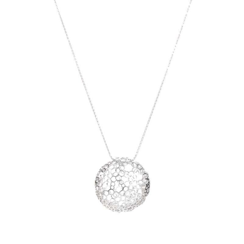 18K White & Yellow Gold Diamond Pendant HAP500714-18Y