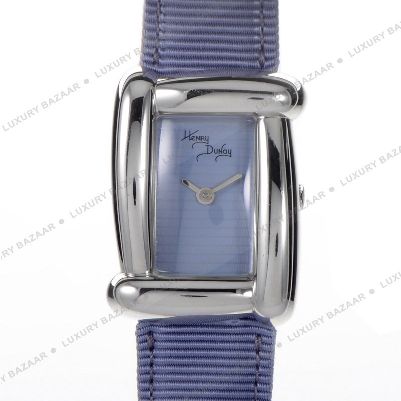 Henry Dunay Blue Satin Leather Strap W6005BLUGR