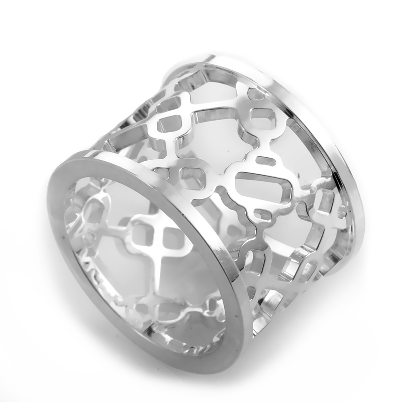Chaine d'Ancre Passerelle Silver Band Ring H106562B
